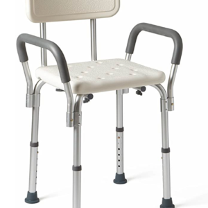 Shower Chair with Armrests and Back Supports up to 350 lbs